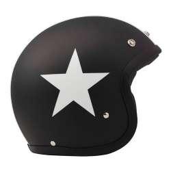 DMD Helm Vintage Star Schwarz