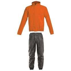 Acerbis Set De Pluie Rain Suit Logo Orange Fluo-Noir