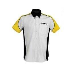 Acerbis Chemise Racing Blanc-Jaune-Noir