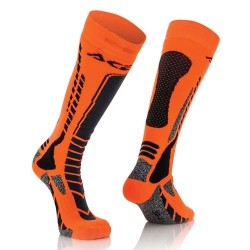 Acerbis Socken Mx Pro Schwarz-Neon Orange