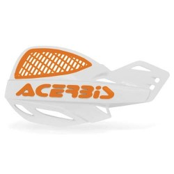 Acerbis Protège-Mains Mx Uniko Vented Incl. Kit De Montage Blanc-Orange
