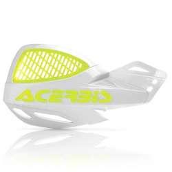 Acerbis Protège-Mains Mx Uniko Vented Incl. Kit De Montage Blanc-Jaune Fluo