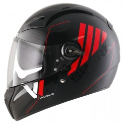 Casque Shark Vision-R 2 Fibre Cartney - Noir-rouge