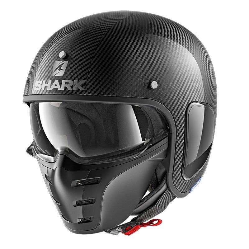Shark Helm S-DRAK / FIBRE BLANK CARBON SKIN - Karbon-grau