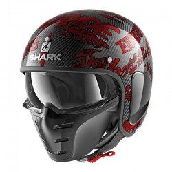Casque Shark S-DRAK / FIBRE FREESTYLE CUP - Carbon-rouge