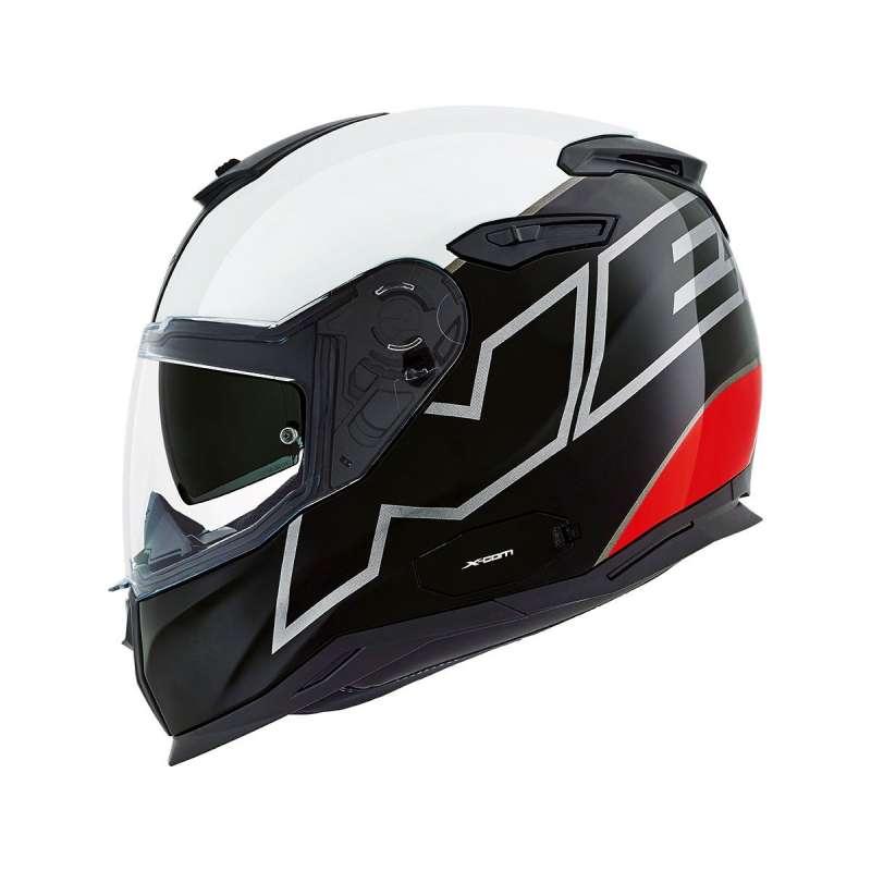 Casque Nexx SX.100 ORION Noir/blanc/rouge