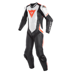 Combinaison Dainese 1 pce. Laguna Seca 4 Perf. rouge fluo