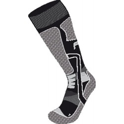 CHAUSETTES LONG MOTORBIKE DAME - GRIS/ROUGE