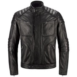 BELSTAFF RALEIGH JACKE HERREN - WAXED LEATHER / SCHWARZ