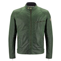 BELSTAFF ARIEL VESTE HOMMES - WAXED COTTON / BRITISH GREEN