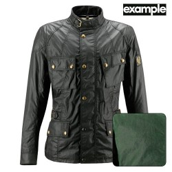 BELSTAFF CROSBY JACKE HERREN - WAXED COTTON / BRITISH RACING GREEN