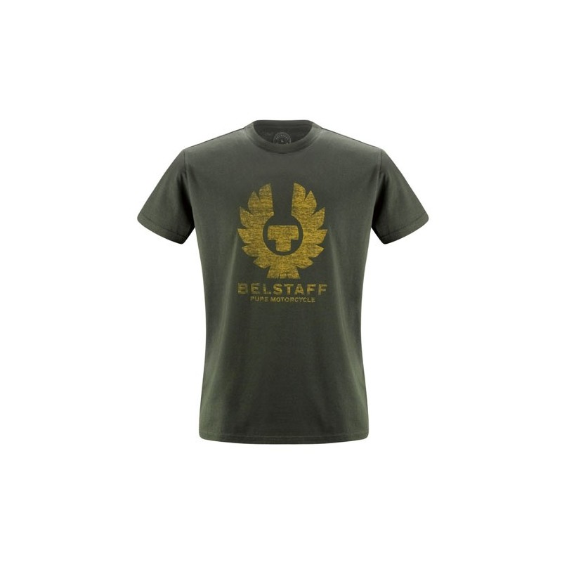 BELSTAFF T-SHIRT ANDERSONS HOMMES - BRITISH RACING GREEN