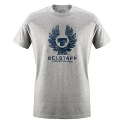 BELSTAFF ANDERSONS T-SHIRT HERREN - COTTON / LIGHT GRAU MELANGE