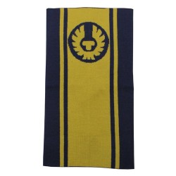 BELSTAFF LOGO NECKWARMER - YELLOW / RACING BLUE