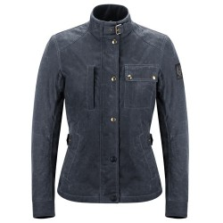 BELSTAFF SOY WAXED VESTE KATE'S COTTAGE DAMES - DARK NAVY BLUE
