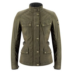 BELSTAFF PHILLIS VESTE DAMES - WAX NYLON COTTON / MILITARY GREEN