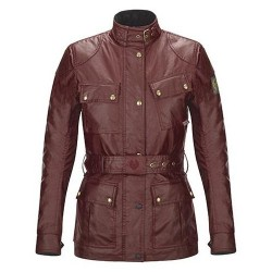 BELSTAFF CL. TOURIST TROPHY VESTE DAMES - WAXED COTTON / CARDINAL RED