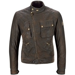 BELSTAFF IMPERIAL JACKE HERREN - RESIN WAXED COTTON / DARK BROWN