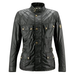 BELSTAFF CROSBY VESTE HOMMES - WAXED COTTON / NOIR