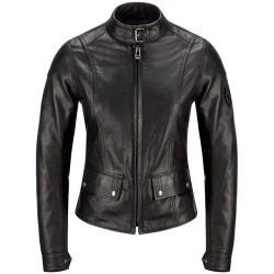 BELSTAFF CALTHORPE JACKE DAMEN - LEATHER / SCHWARZ