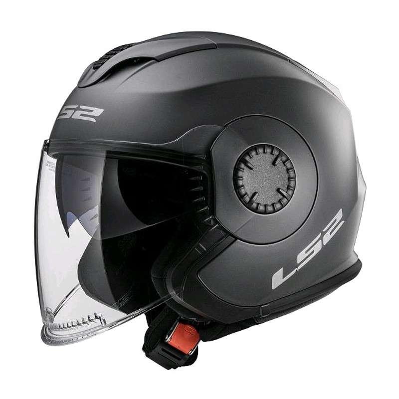 LS2 Helm OF570 Verso Solid titan/gun