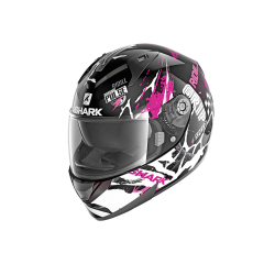 Casque Shark RIDILL DRIFT-R - Noir-blanc-violet