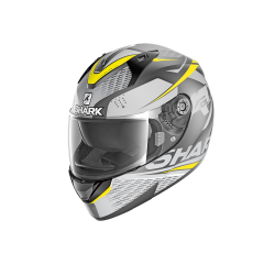 Casque Shark RIDILL STRATOM MAT - Anthracite-noir-jaune