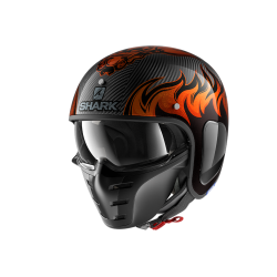 Casque Shark S-DRAK DAGON  - Carbone-orange-noir