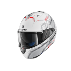 Casque Shark EVO ONE 2 KEENSER  - Blanc-gris-rouge