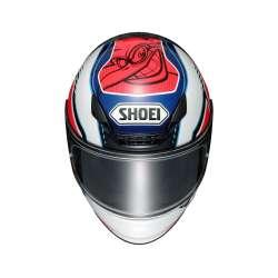 Shoei NXR Cluzel TC-1 Weiss Rot Blau