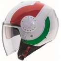 Casque caberg RIVIERA V3 SWAY ITALIA - Blanc-rouge-vert
