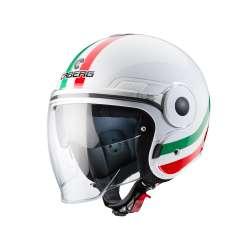 Casque caberg UPTOWN CHRONO ITALIA(new) - Blanc-rouge-vert