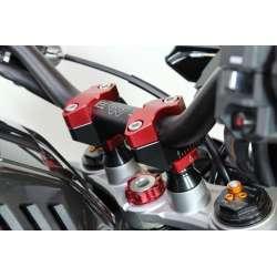 Gilles Tooling Prises de Guidon réglable pour guidons 28.6mm noir-rouge