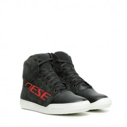 DAINESE YORK D-WP SHOES  DARK-CARBON/ROT