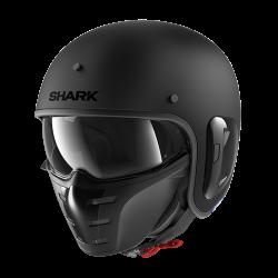 Casque Jet Shark S-DRAK 2 BLANK MAT - noir Mat
