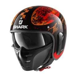 Casque Jet Shark S-DRAK 2 TRIPP IN - noir Orange