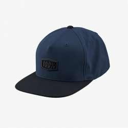 100% Enterprise Hat gunmetal heather, bleu