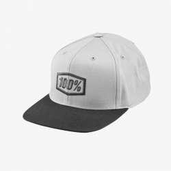 100% Enterprise Hat gunmetal heather, noir clair