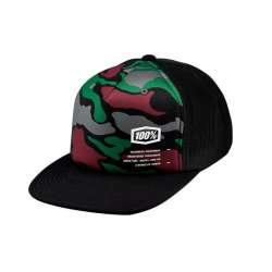 100% Trooper Trucker Hat, noir