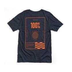 100% Global Shirt bleu