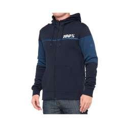 100% Emissary Zip Sweatshirt bleu