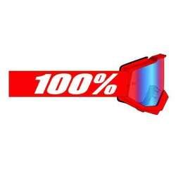 Lunettes 100% Accuri II Youth rouge - Lentille rouge-bleu-miroir