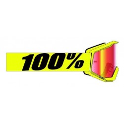 Lunettes 100% Strata 2  Yellow - Mirror Red