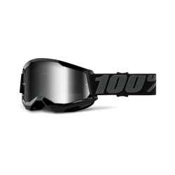 Lunettes 100% Strata 2  Black - Mirror Silver
