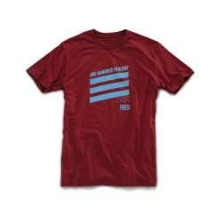 100 % Shirt Percuss cardinal