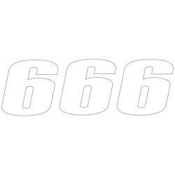 MOTOCHIC Numéro de départ 6 blanc