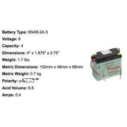 Yuasa Batterie 6N4B-2A-3