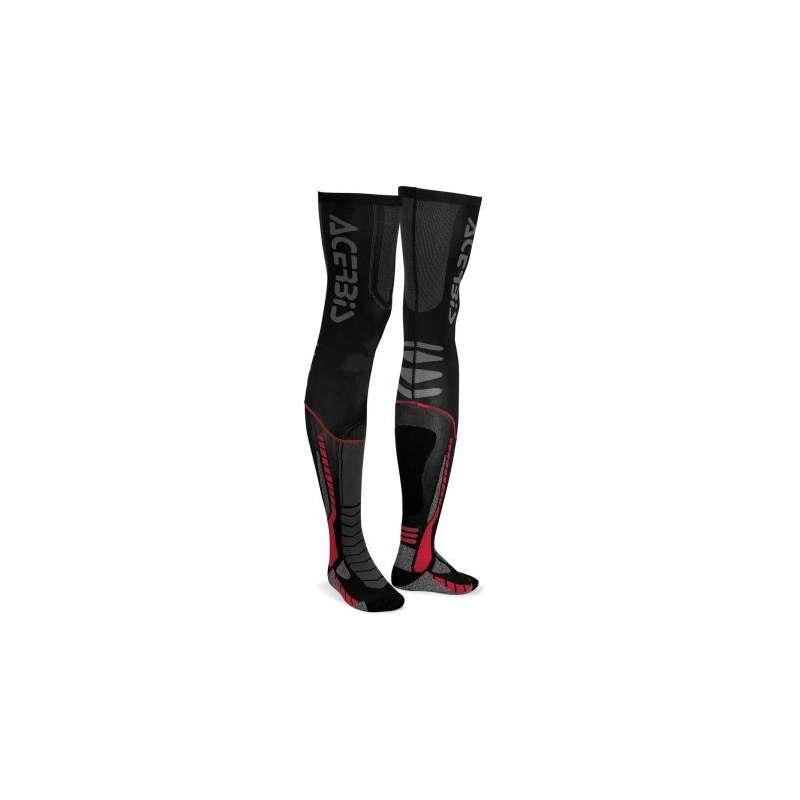 X-Leg Socks Noir/Rouge