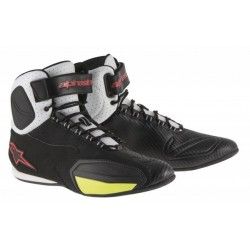 Chaussures Alpinestars FASTER (VENTED) - Noir/Blanc/Rouge/Jaune